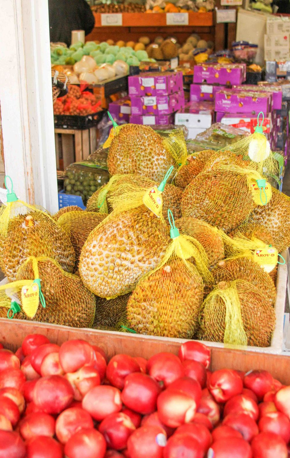 Since we were in the International District, we decided to peruse a Vietnamese grocery store. I recently tried Durian for the first time and loved it, so I was pleased to see this giant bin full of the stinky fruit.