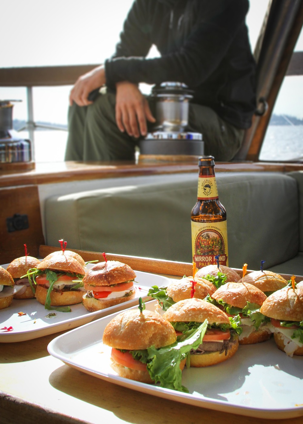 Sailing grub and local Seattle beer