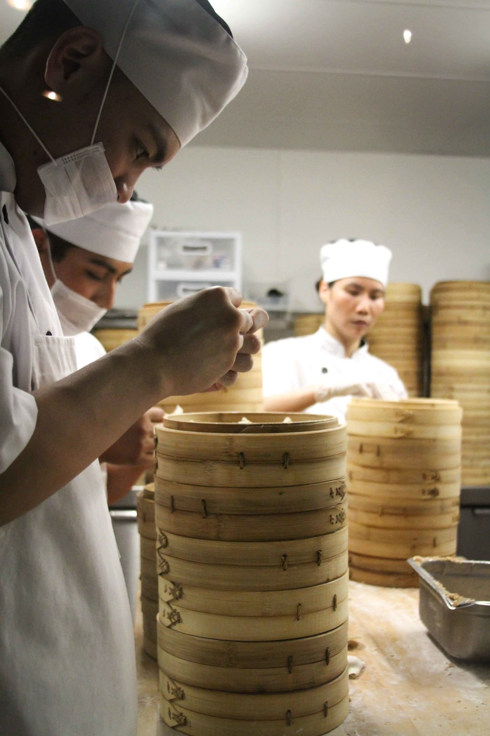 Din Tai Fung dumpling makers hard at work