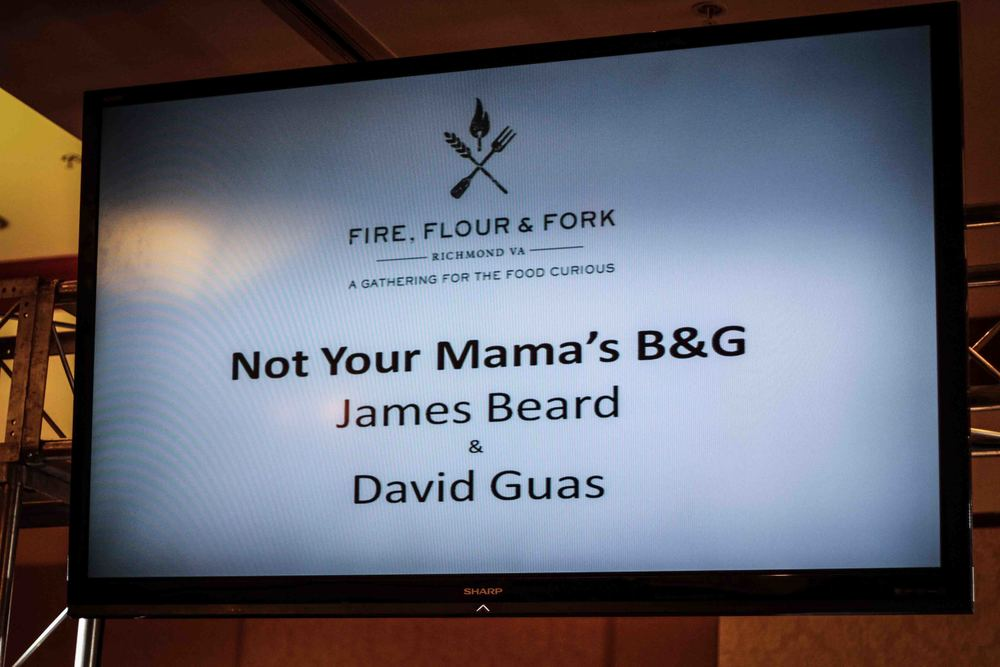 Fire Flour Fork session with David Guas...and sadly...James Beard did not make a ghostly appearance