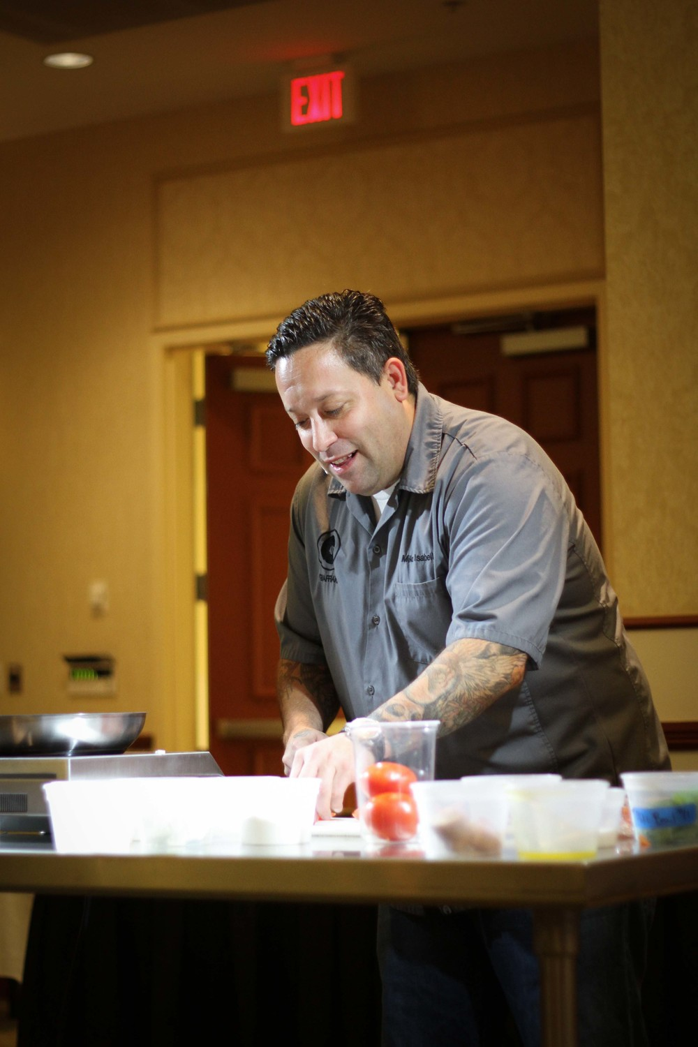 Chef Mike Isabella of Top Chef fame making gnudi