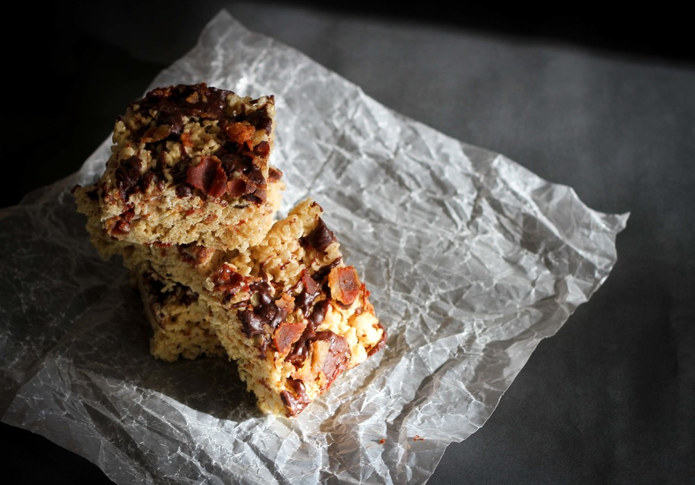 Rounded out my week with a batch of bacon, bourbon, brown butter rice crispy treats