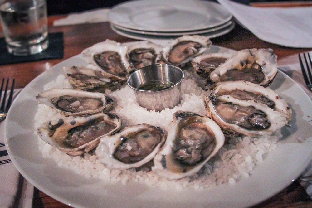 Dozen blue point oysters