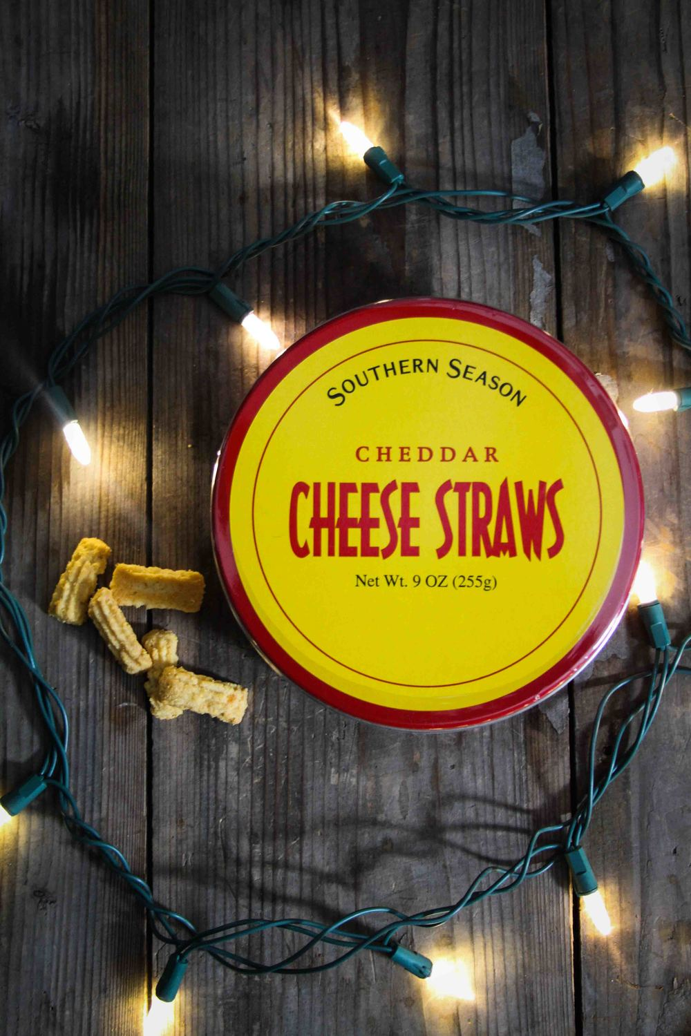Southern Season, Cheddar Cheese Straws ($12.95) - I was sold on this ultra-cheesy-super-addictive snack the moment I sampled it! I immediateIy bought a few tins as gifts... and a few for myself. Sold at Southern Season.