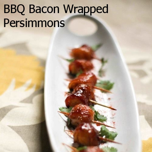 BBQ Bacon Wrapped Persimmons