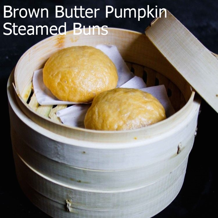 Brown Butter Pumpkin Steamed Buns