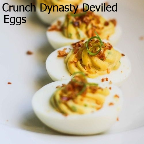 Crunch Dynasty Deviled Eggs