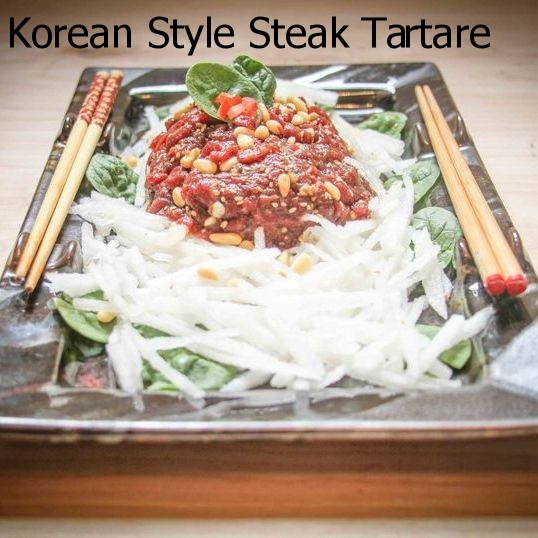Korean Style Steak Tartare