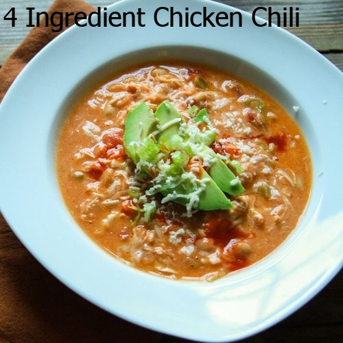 4 Ingredient Chicken Chili