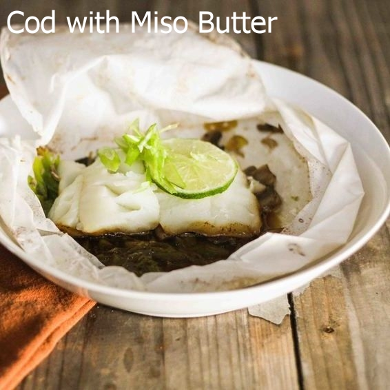 Cod with Miso Butter in Parchment