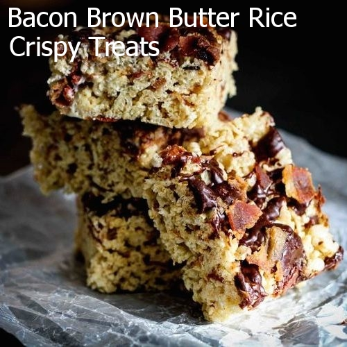 Bacon Brown Butter Rice Crispy Treats