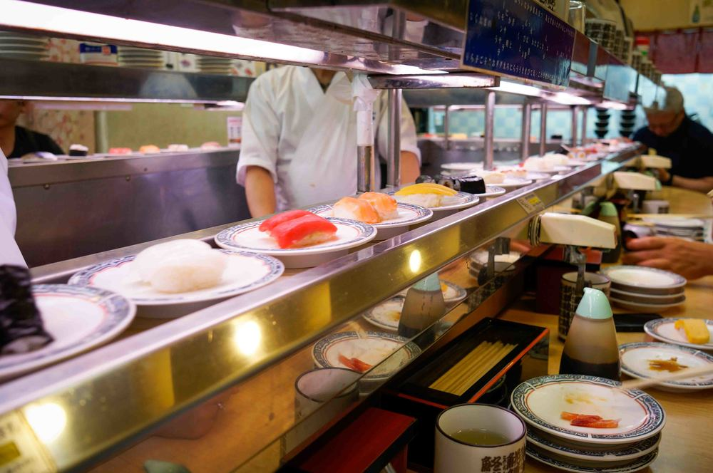 Random conveyor belt sushi place that blew my mind. Among my favorites were the raw shrimp nigiri and nato and okra roll.