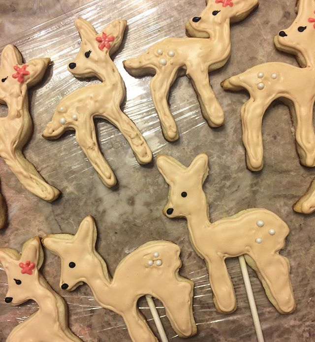 Deer sugar cookies for my best friends baby shower @mbrogan7