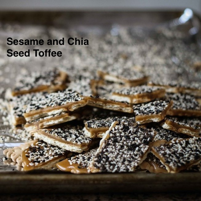 Sesame and Chia Seed Toffee