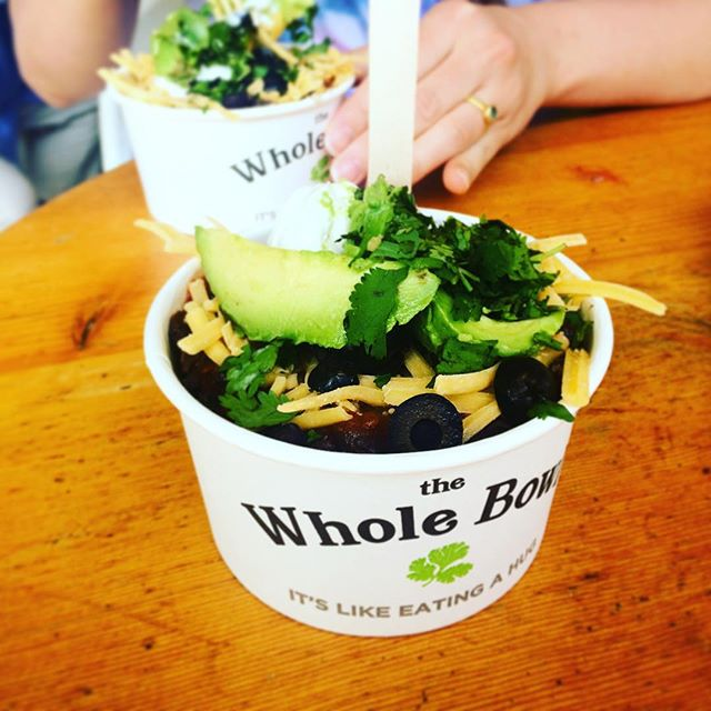 Ate the whole bowl @ #wholebowl #pdx and washed it down with an amazing green smoothie at #kurejuicebar. Portland, you're doing it right.