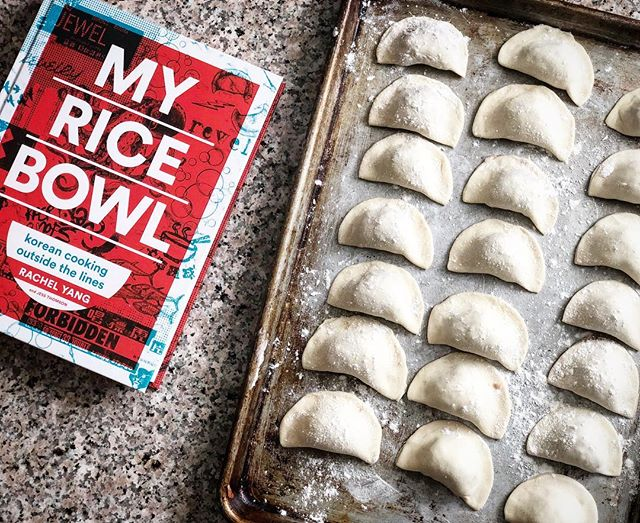 Spending Sunday making shrimp and bacon dumplings 🥟 from my cousin's cookbook, My Rice Bowl. @revelrypdx @rachelchyang @revelseattle . . . #mandu #dimsum #myricebowl #revelpdx #dumplings #ilovedumplings