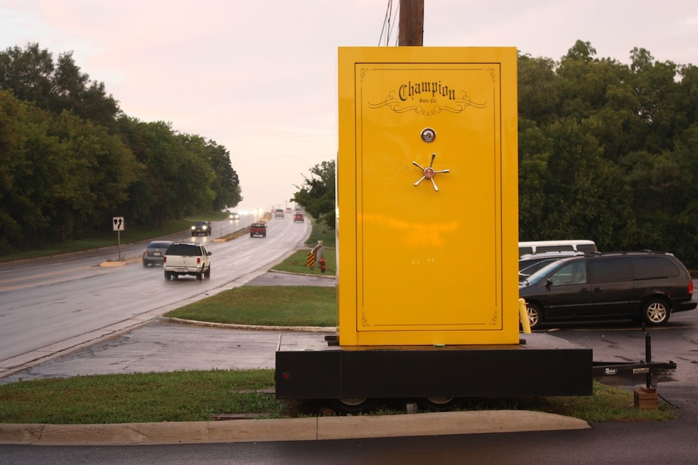 Gun safe, East Dundee, IL / Photo credit: Susannah Breslin