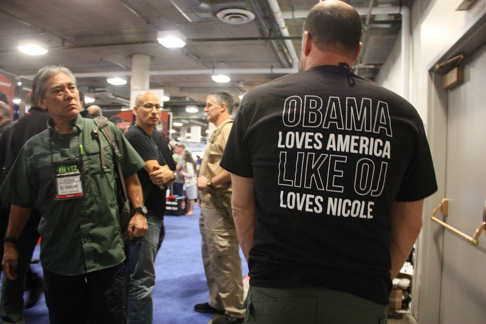 Obama Loves America Like OJ Loves Nicole, Las Vegas, NV / Photo credit: Susannah Breslin