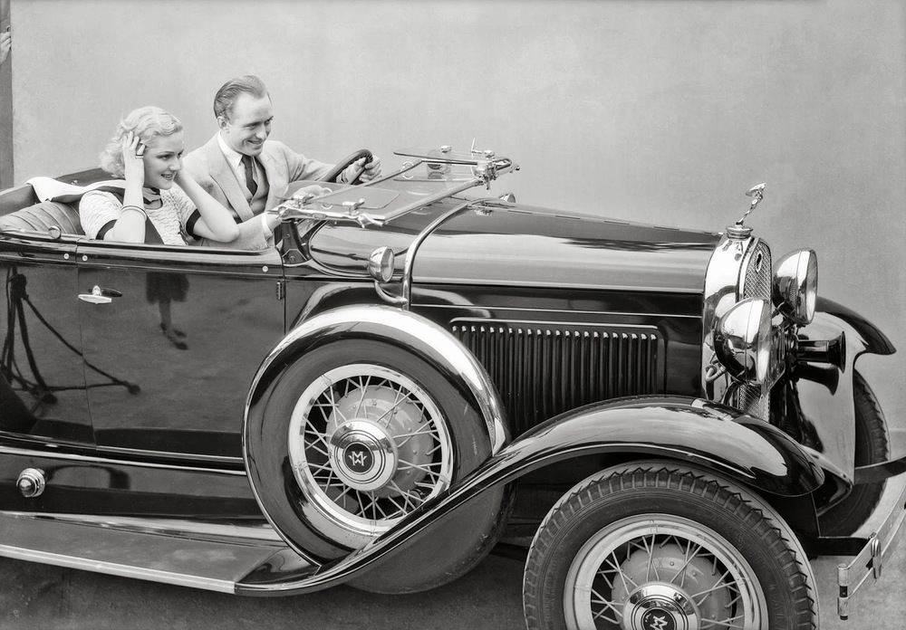 Couple in sporty Ford, California, 1931 / Photo credit: Dick Whittington Collection