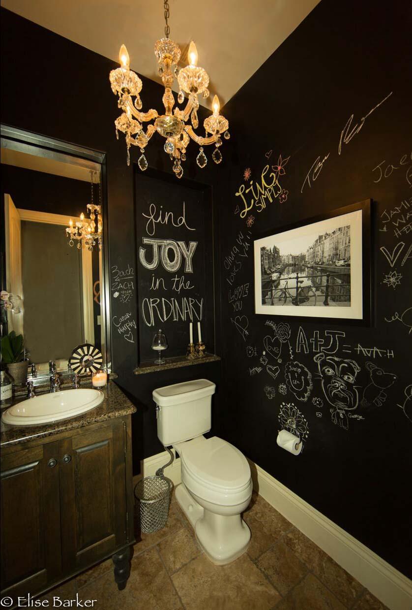 Powder Bath - Abode Interior Design