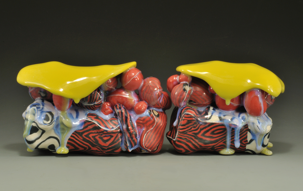 Texas Land Body 6,  2014, Colored porcelain and glaze,  5.5 x 5.25 x 18.5 inches