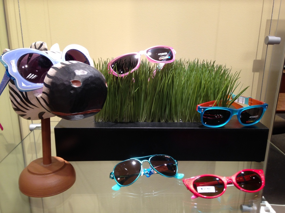 """Are you doing a good job of recommending sunwear for kids? I admit that I could be doing a better job. We have some great sun options with our Zoobugs collection....and we also recently added Polaroid for kids. I have no excuse! So, I am challenging myself to ask every parent this summer this one simple question; """"What is your child wearing for sun protection this summer?""""    SELECT   to learn more about Holly Forstad (Minnesota).   VIEW   Holly's entire blog."""