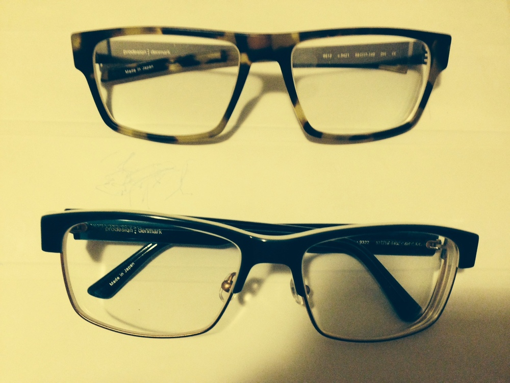 As opticians we have access to the good stuff when it comes to eyewear. I love to wear some truly unique colors. Here are my two newest pairs adding just this last week. If we as Opticians and really fashion consultants don't keep it fresh and new how can we expect our clients to do that. I personally have a meager 9 pair in current Rx rotation not counting sun wear. My new sunnies will be my next share. Keep it fresh people.