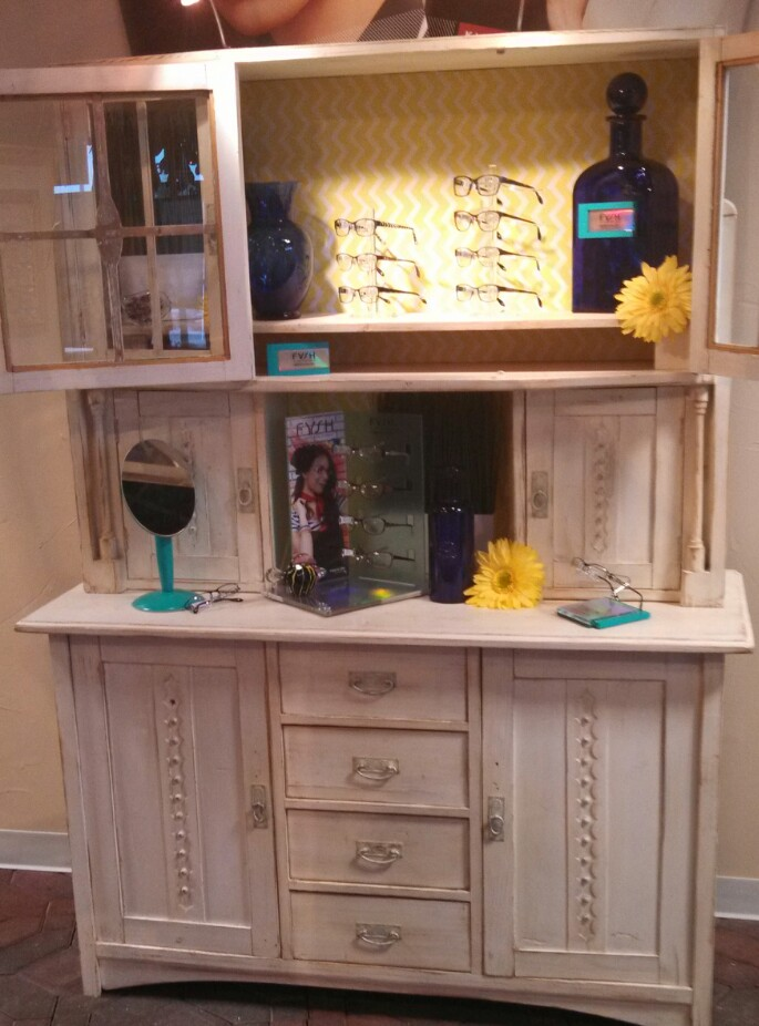 Spring has finally sprung with our new spring Fysh display in our antique hutch.    SELECT   to learn more about LaRae Fischer (Minnesota).   VIEW   LaRae's entire blog.