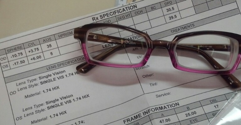 When final inspecting a unique prescription that looks this good I take a moment to show other Opticians. Big shout out to 1.74 High Index for truly impressive results! Julie helped this patient pick the perfect material and a fantastic frame that really hid the thickness well. All that matters is the patient was thrilled with the clarity and her new look. She looked amazing! I would recommend trying 1.74 high index on high minus patients. What is your favorite material?    SELECT   to learn more about Sandy Brubaker (Wisconsin).   VIEW   Sandy's entire blog.