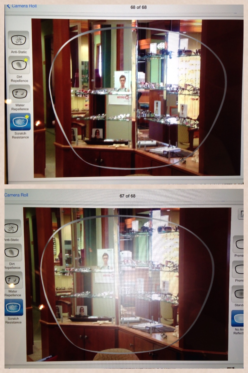 All four of our opticians have an iPad at their workstation. We use them to take client photos and to do personal research on frames and lenses. We also love to use them daily to teach patients about lenses. This is a picture taken from our HVC Viewer from HOYA. We use it to educate on progressive, polarized, and photochromic lenses, BlueControl treatment, and, as pictured, anti-reflection (non-glare) treatment. It gives our patients a great visual about what premium non-glare does for them! Find and use a quality optical App (like the HVC Viewer) to help you educate patients with pictures and videos.    SELECT   to learn more about Tim Slapnicher (Minnesota).   VIEW   Tim's entire blog.