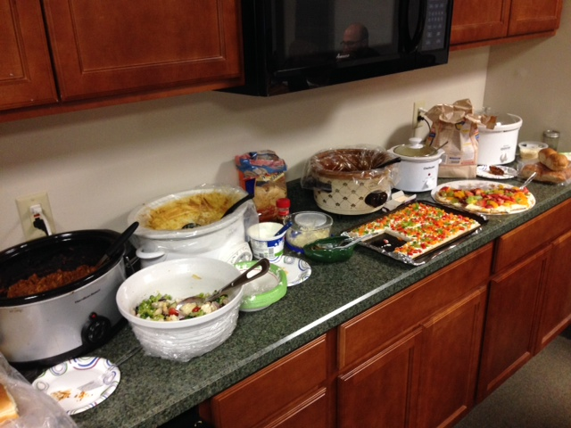 We had our potluck today...there's nothing better than working with passionate foodies! This is great for team building, especially during this super cold January day in Minny! I may need a nap :)    SELECT   to learn more about Tim Slapnicher (Minnesota).   VIEW   Tim's entire blog.