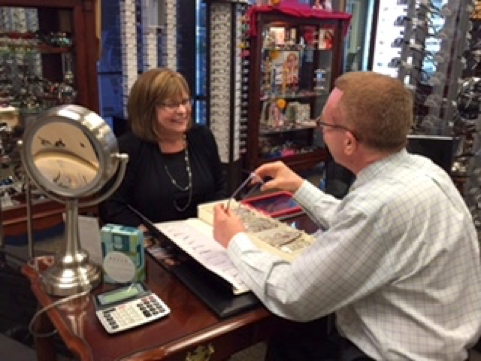 Meeting with Clearvision Optical representative, Karen Robertson