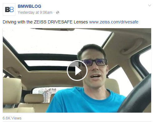 d21cc1a921c ZEISS DriveSafe lens reviewed live on Periscope by BMW Blog ...