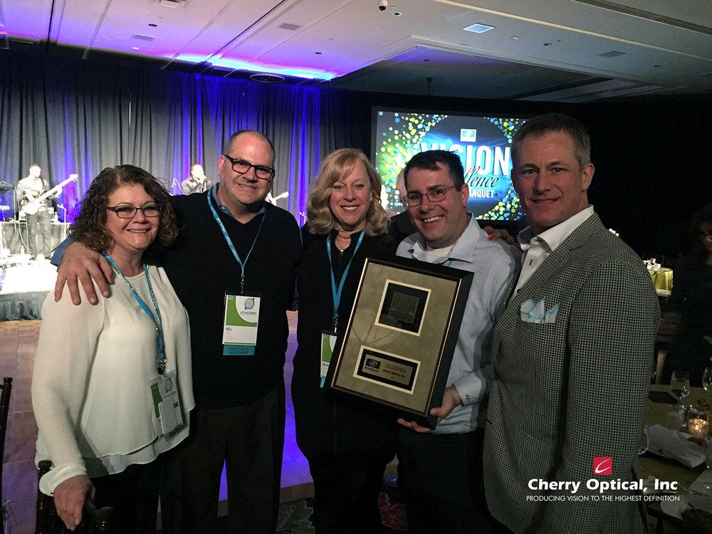 Cherry Optical, Inc X-Cel Outstanding Achievement Award 2016.jpg