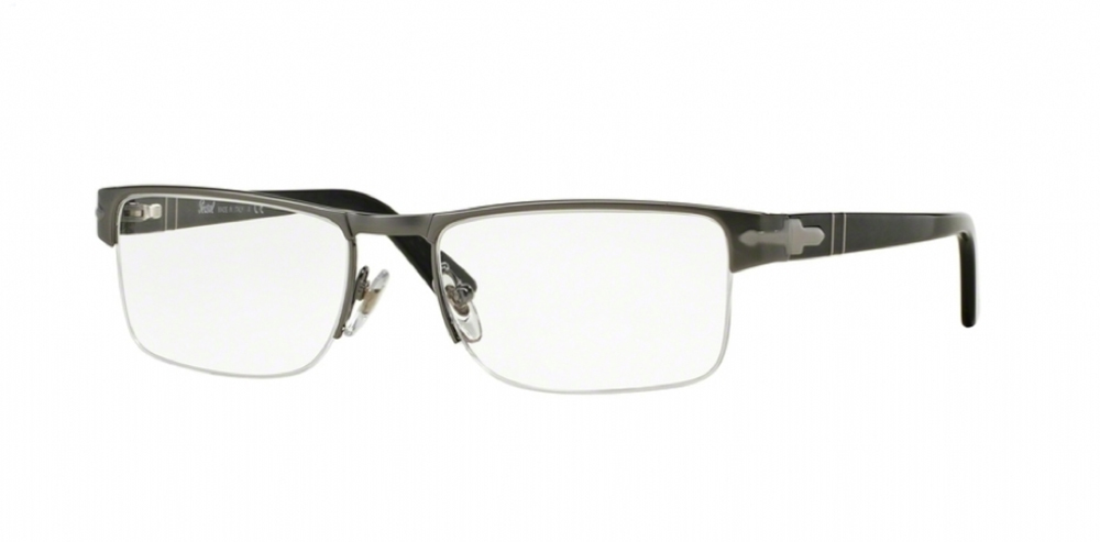 On this grooved rimless Persol frame, the bottom ½ of the lens is held in place by a clear fishing line. Most grooved rimless frames can be produced to a minimum edge of 2.0 to 2.2 mm.