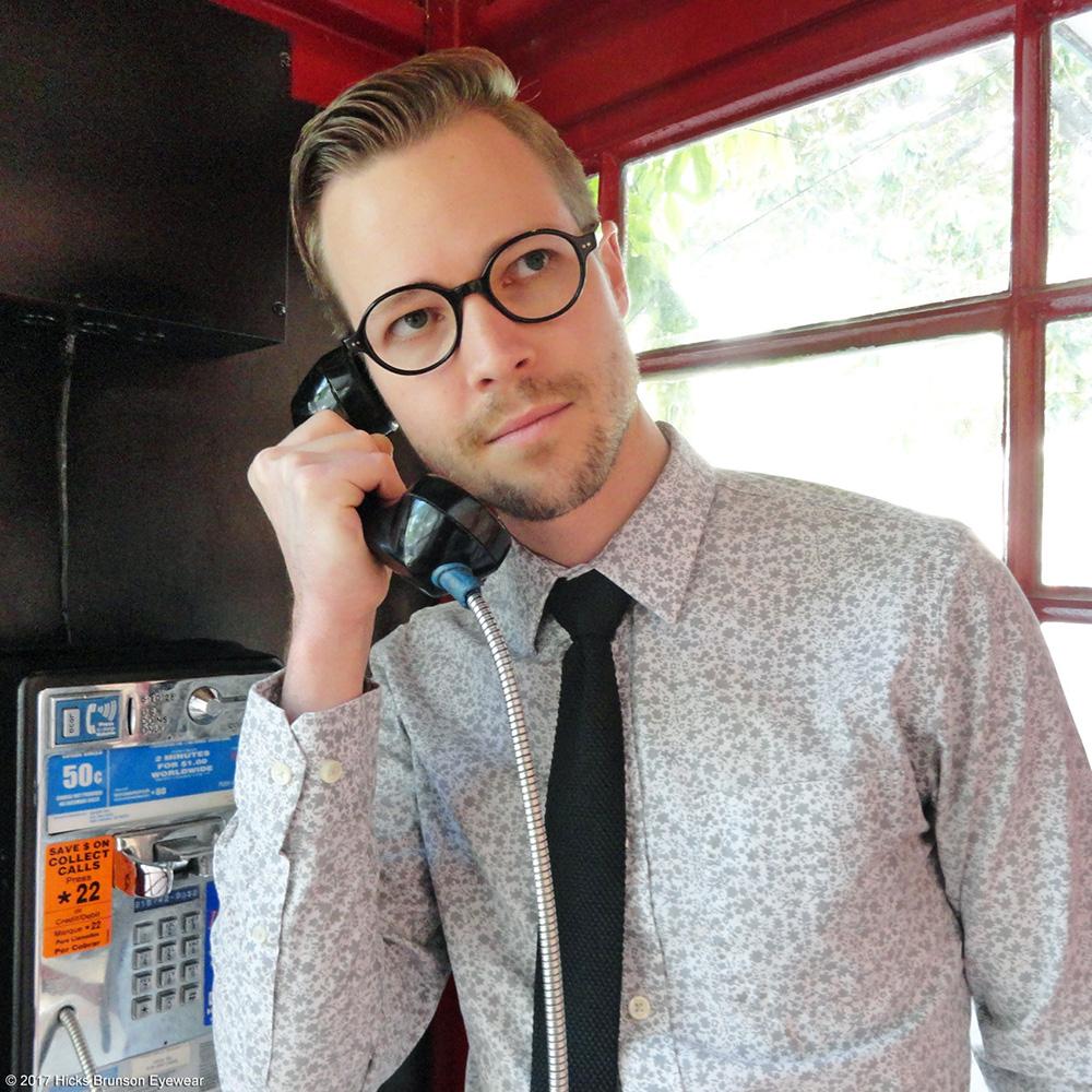 Daniel Brunson, from Hicks Brunson Eyewear, wears Masunaga eyewear.