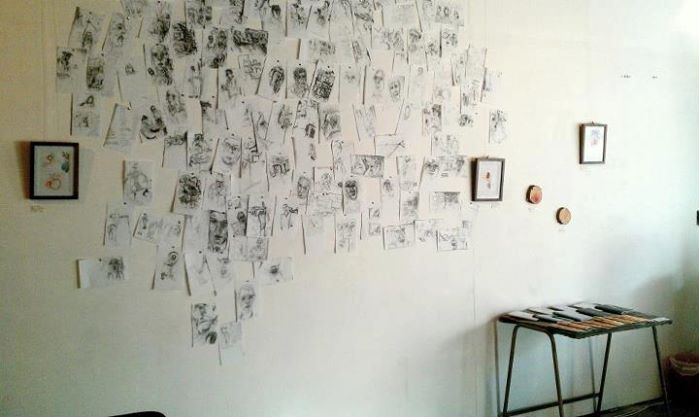 Obsessive drawing (installation)