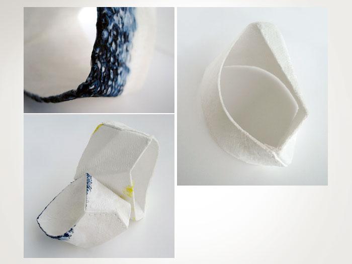 WallPlay - Experimental Product Design Machine knit, paper pulp, potato starch, magnets  Textile graduate work, Denmark