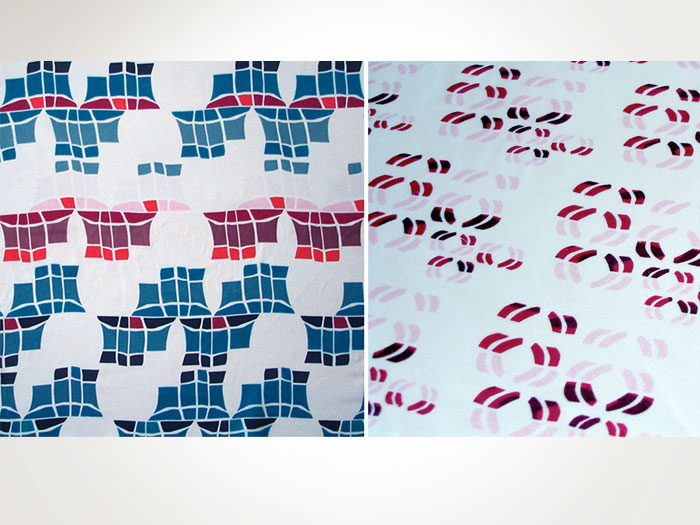Prints on Silk  Shown at Indigo Salon, Paris