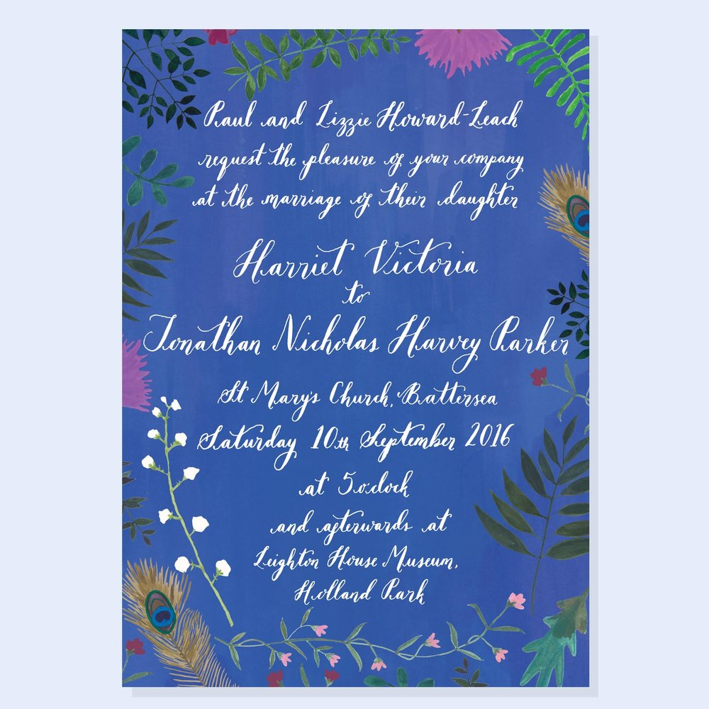 Hattie and Jonathan - Customised Garden Party Invitation