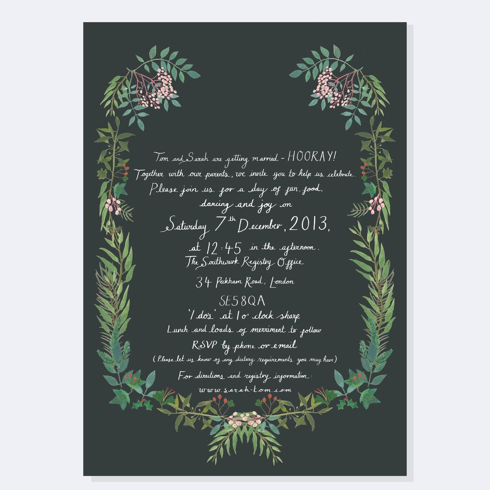 Tom and Sarah - Bespoke Invitation