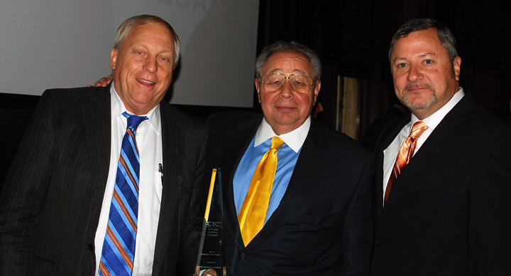 AOH Chairman, Jim McShane, 2013 AOH Recipient, Norman Bobins, and CBC President, James A. Sikich, following the 2013 Award of Honor Program.