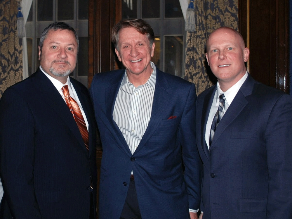 James A. Sikich, CBC President, Rusty Sherwood, FMI, and Chris Budris, CFMA President, following the 2014 Economic Forecast meeting.