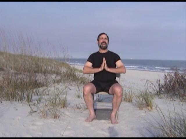 Howie Shareff leading a Chair Sun Salutation - click the picture to see the video