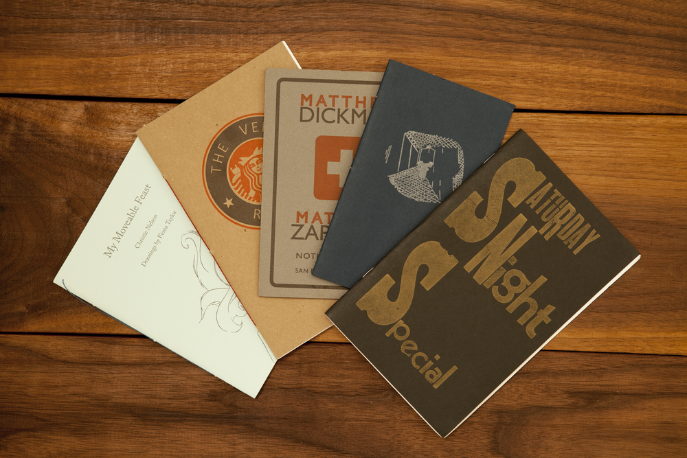 a selection of letterpress zine covers