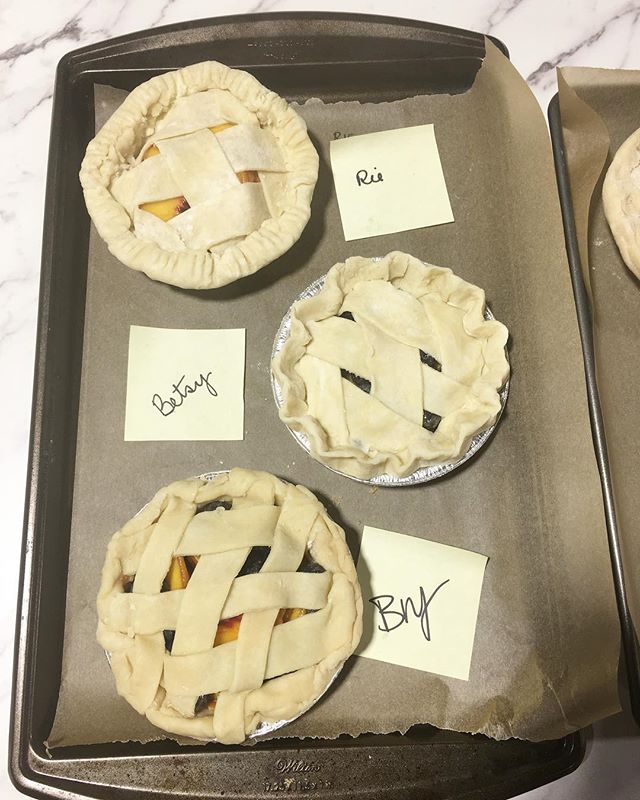 Check out @buzzfeedtasty instagram stories for a glimpse of our pie making class!  If you're in the LA/OC area and would like have a private pie making class in your home with a group of friends, email me at eat@sugarpiehoneybuns.com for details! #piemaker #baker #continuingeducation #learntomakepielikegranny