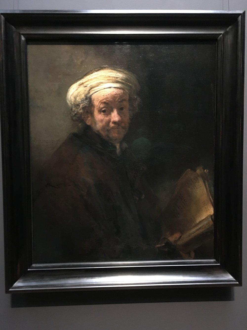 The above is a self portrait by Rembrandt in his later life, not long before he died.  MaryAnn shared with us the difficulties he had in his life as well as information about the paintings he did.  Though we didn't have to, we took many pictures in the Rijksmuseum.  Why didn't we have to?  Because they have them all available in high quality for download from their website, for free!  Once we return home, I'm sure I'll be downloading some of them.  We spent a good deal of time looking at and learning about many of them, but a favorite was the Night Watch.  Check it out online!