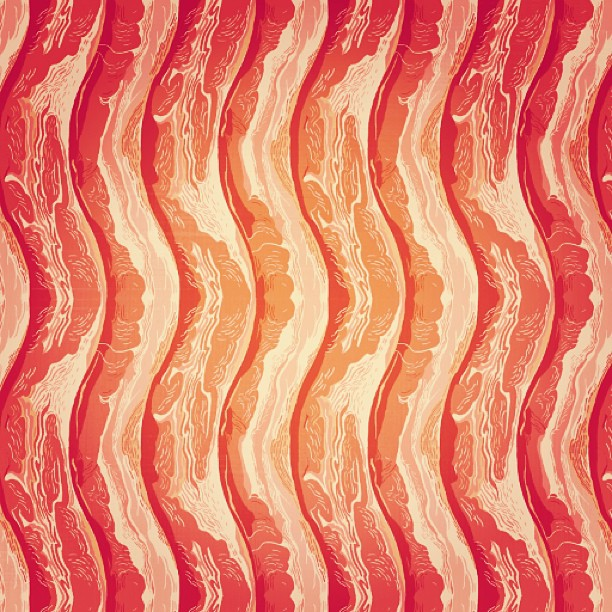 adelakang :     #bacon #pattern . More the merrier. #adelakang #illustration