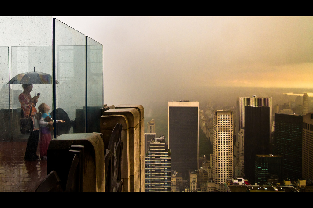After the Rain Stops at Top of the Rock (by RBudhu)