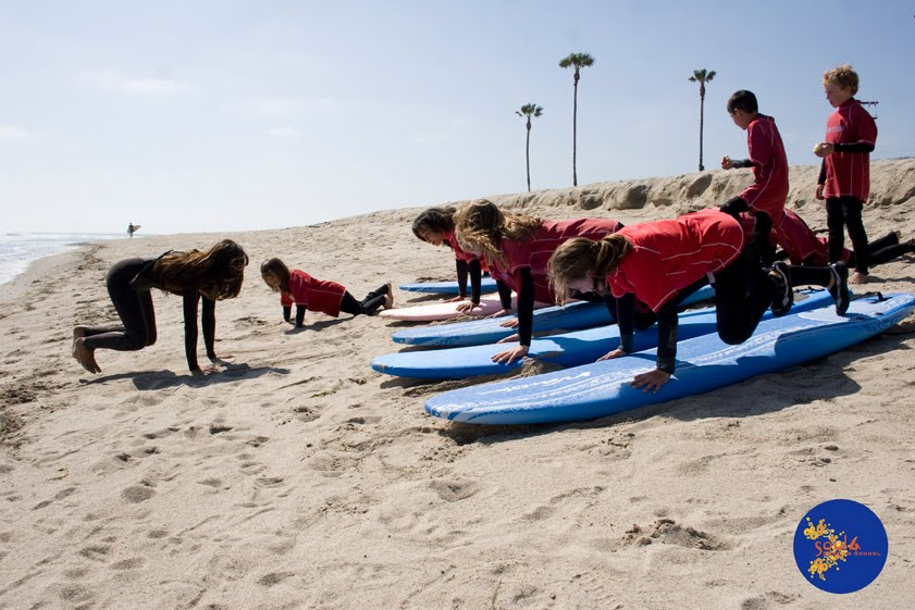 Teaching Surf at Camp Pendleton, CA.